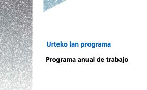 Programa anual de trabajo. 2020